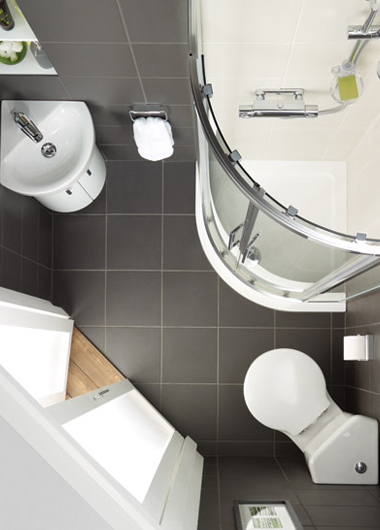 Ideal standard for Bathroom designs for small spaces uk